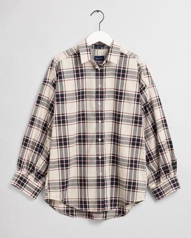 GANT Kadın Krem Tech Prep Oversize Gömlek
