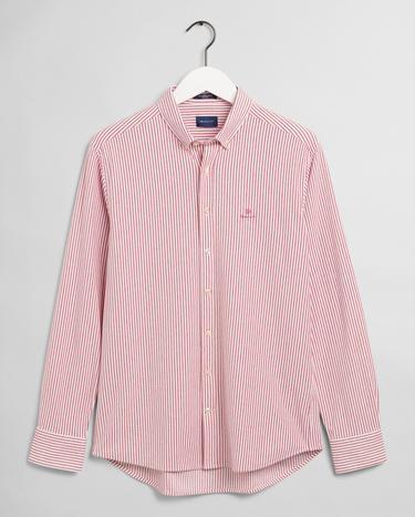 GANT Erkek Kırmızı Regular Fit Çizgili Gömlek