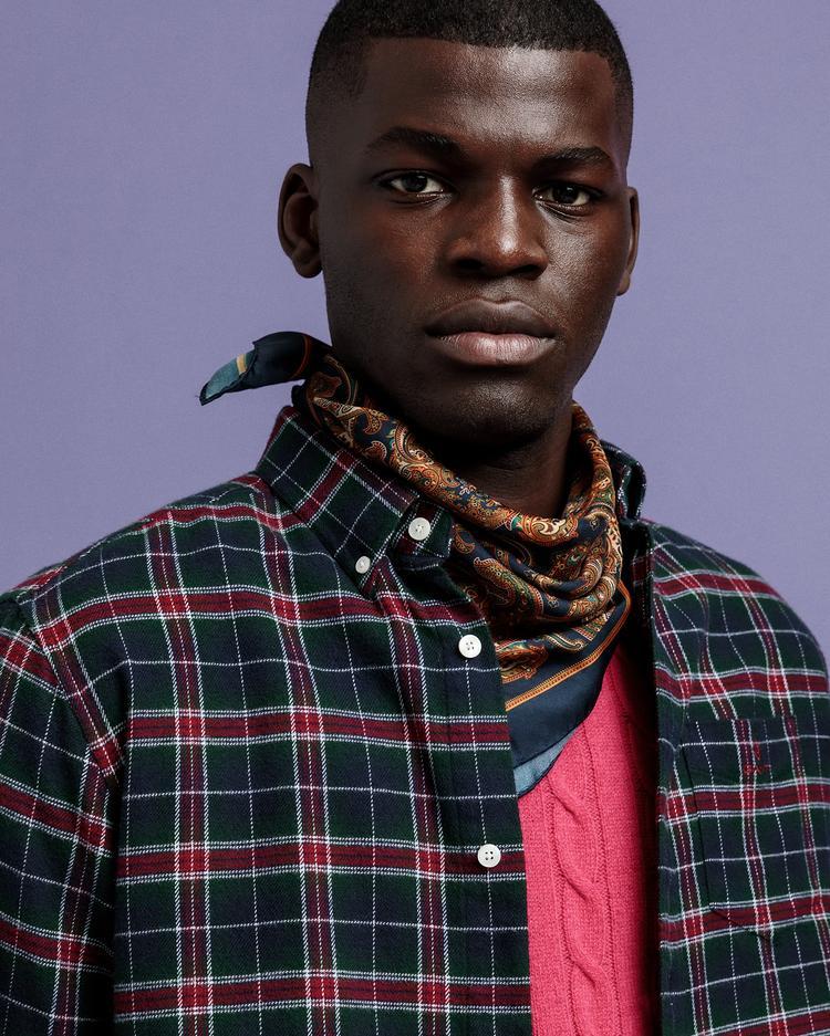 GANT Erkek Lacivert Kareli Regular Fit Gömlek