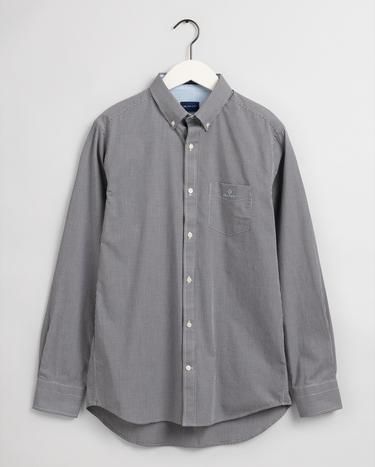 GANT Erkek Siyah Regular Fit Kareli Gömlek