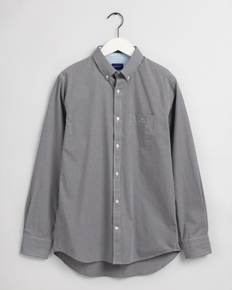 GANT Erkek Siyah Kareli Regular Fit Gömlek