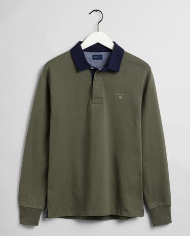 GANT Erkek Yeşil Polo Yaka Sweatshirt