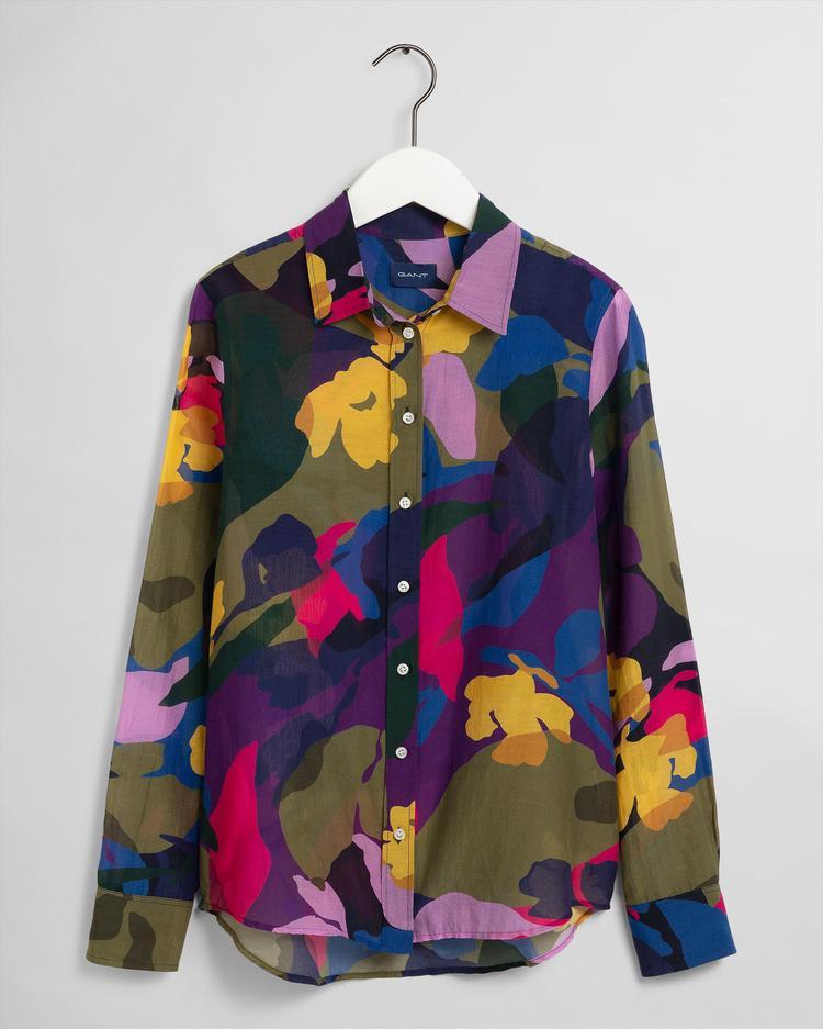 GANT Kadın Renkli Regular Fit İpek Gömlek
