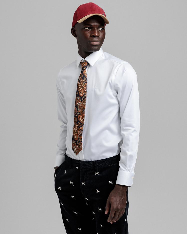 GANT Erkek Beyaz Regular Fit Gömlek