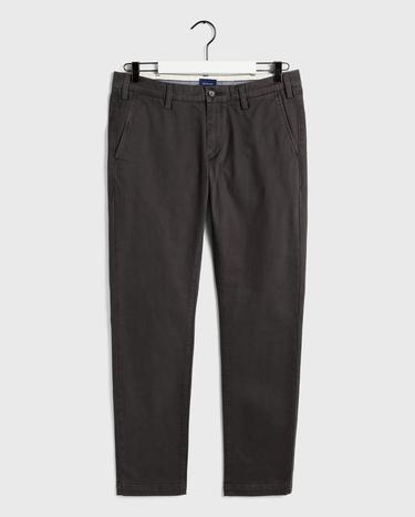GANT Erkek Koyu Gri Slim Fit Chino Pantolon