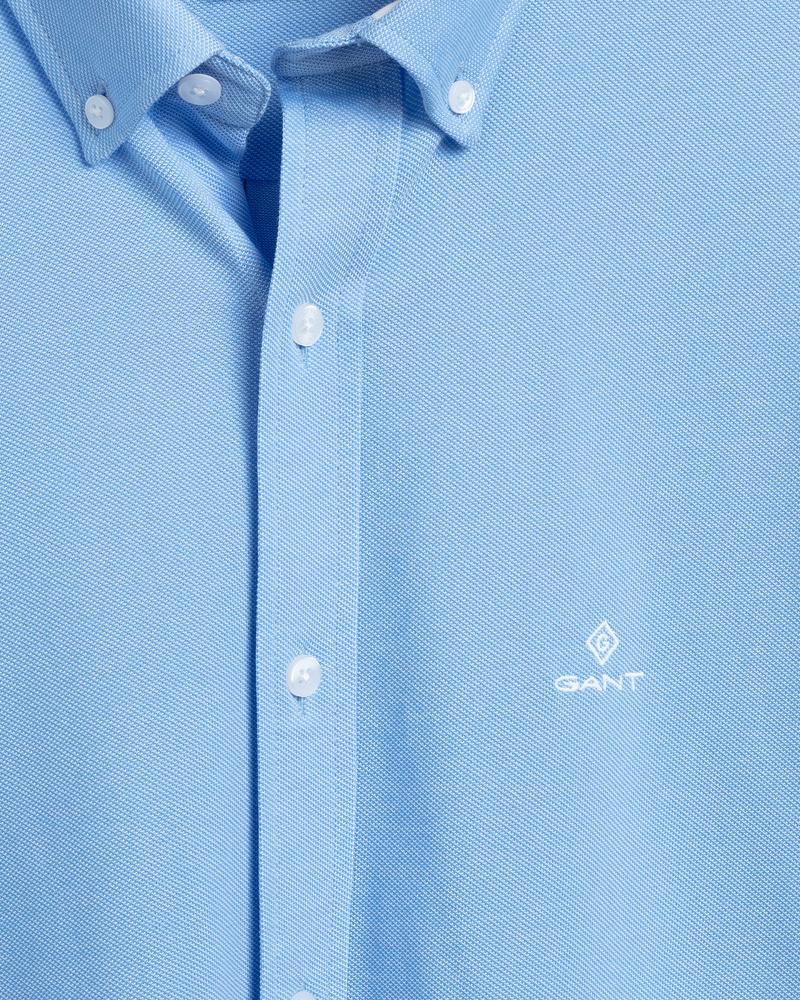 GANT Erkek Mavi Regular Fit Tech Prep Gömlek
