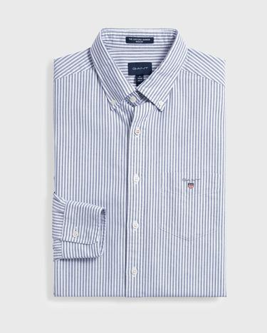 GANT Erkek Mavi Regular Fit Çizgili Gömlek