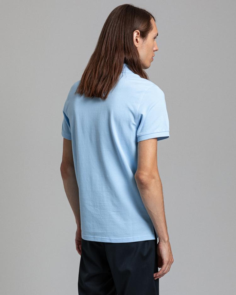 GANT Erkek Açık Mavi Regular Fit Pique Polo