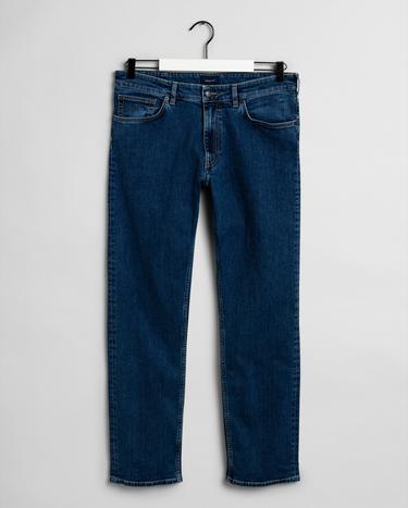 GANT Erkek Mavi Regular Fit Jean Pantolon