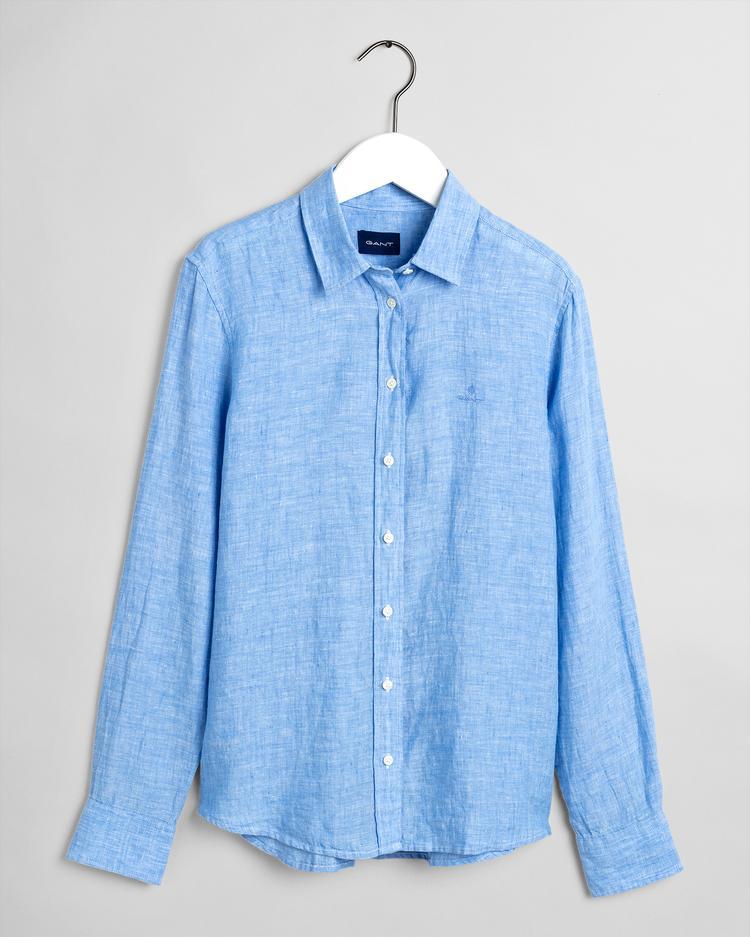 GANT Kadın Mavi Keten Gömlek