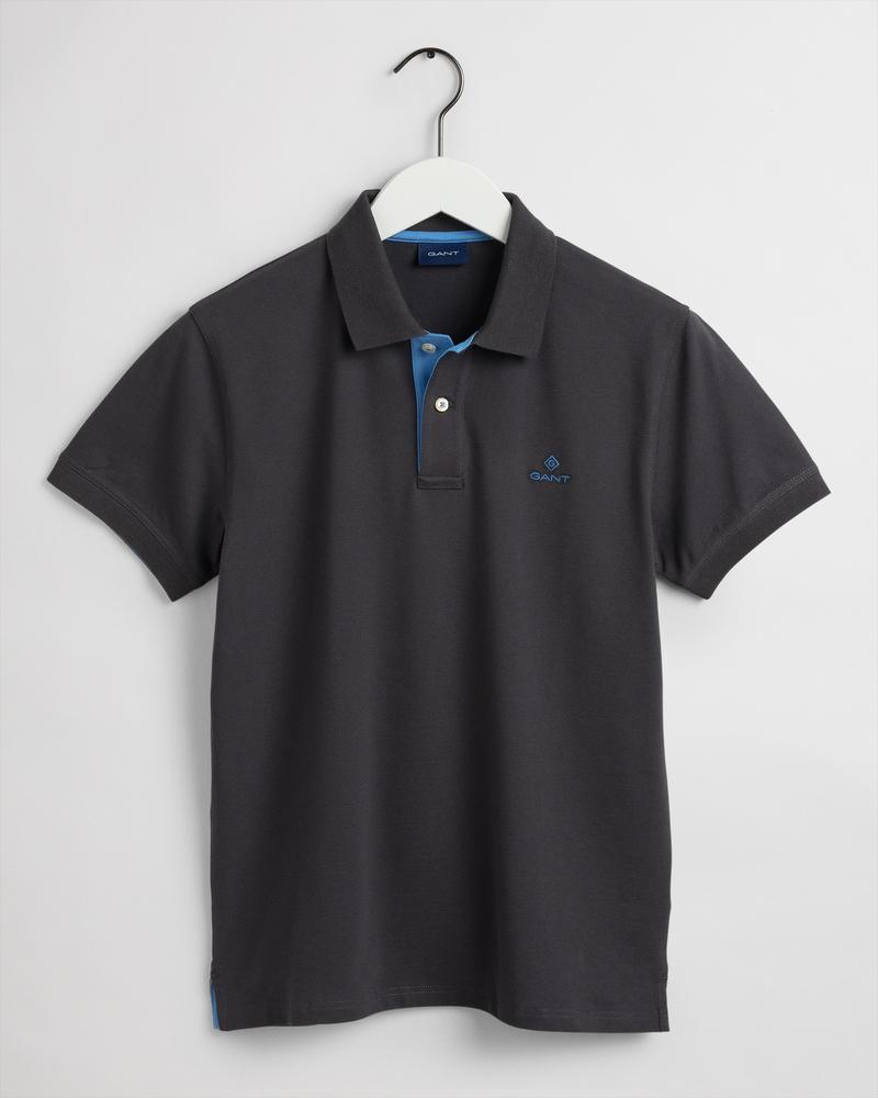 GANT Erkek Siyah Regular Fit Polo