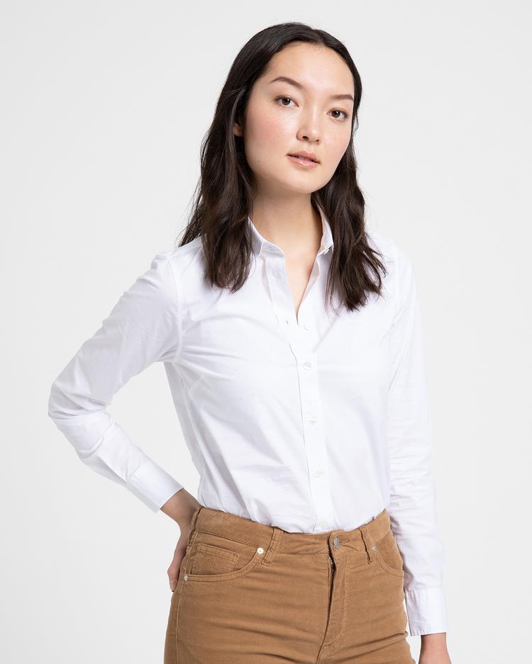 GANT Kadın Beyaz Broadcloth Gömlek