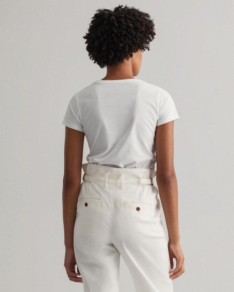GANT Kadın Beyaz Logolu T-Shirt