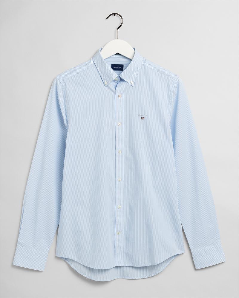 GANT Erkek Mavi Çizgili Slim Fit Gömlek