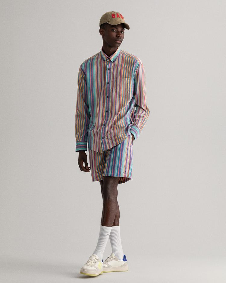 GANT Erkek Renkli Çizgili Gömlek