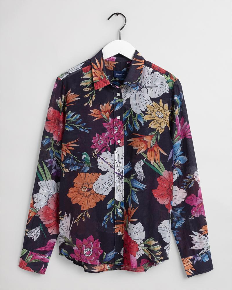 GANT Kadın Lacivert Desenli Gömlek
