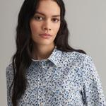 GANT Kadın Mavi Floral Desenli Gömlek