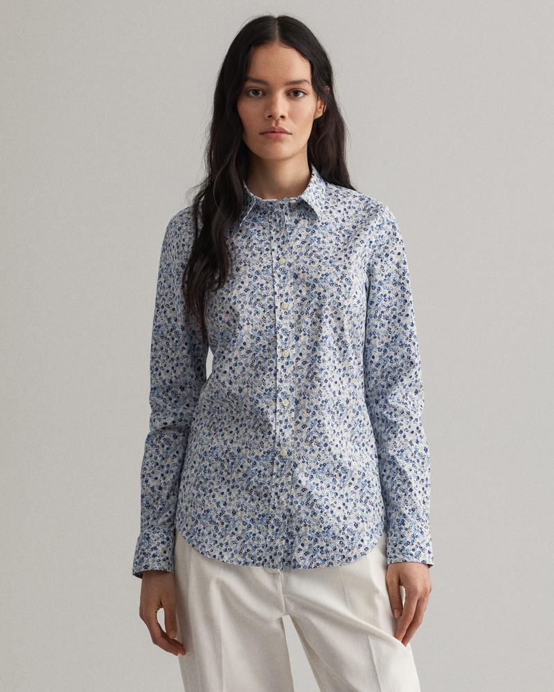 GANT Kadın Mavi Desenli Gömlek