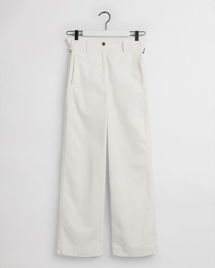 GANT Kadın Krem Kanvas Pantolon