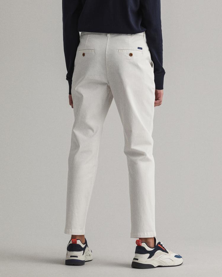 GANT Kadın Beyaz Chino Pantolon