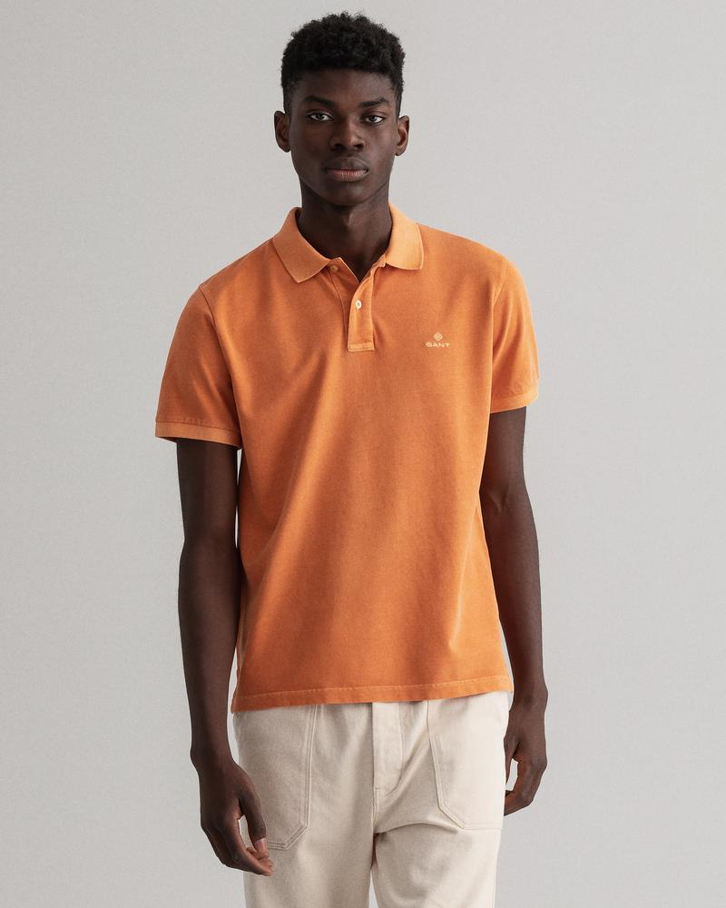 GANT Erkek Turuncu Regular Fit Polo