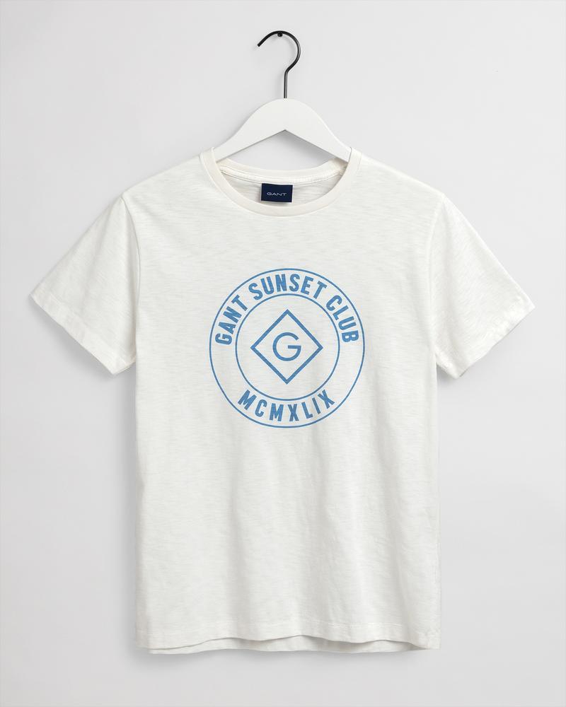 Gant Erkek Krem T-Shirt