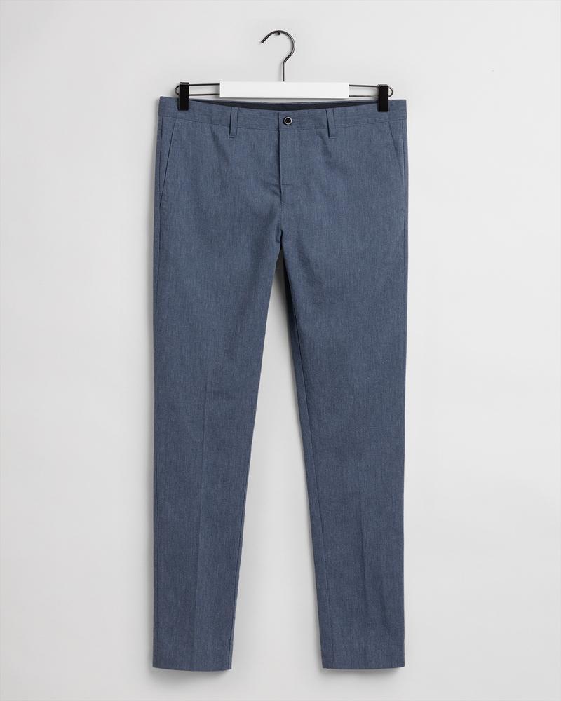 Gant Erkek Mavi Slim Fit Pantolon