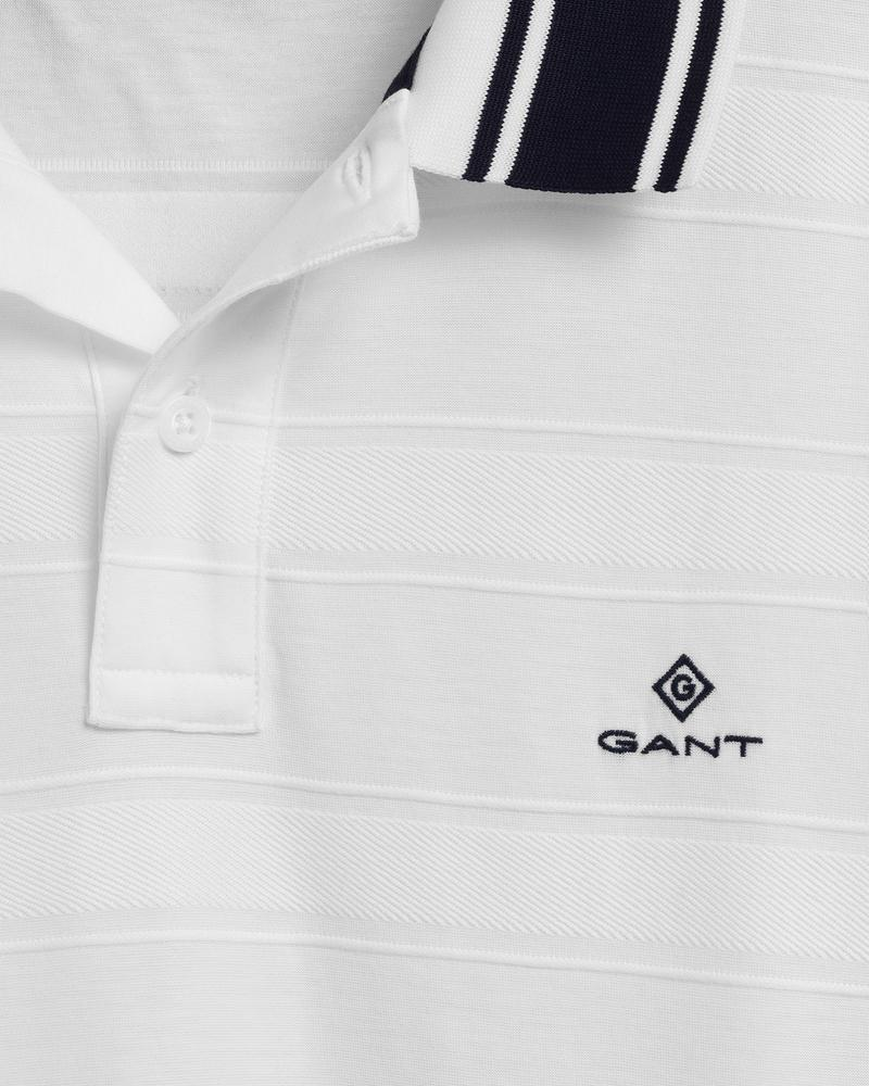 Gant Erkek Beyaz Çizgili Polo
