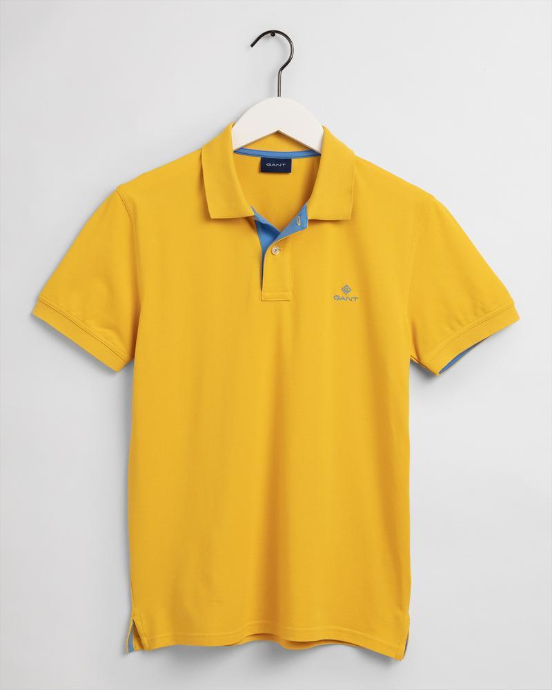 Gant Erkek Sarı Regular Fit Polo