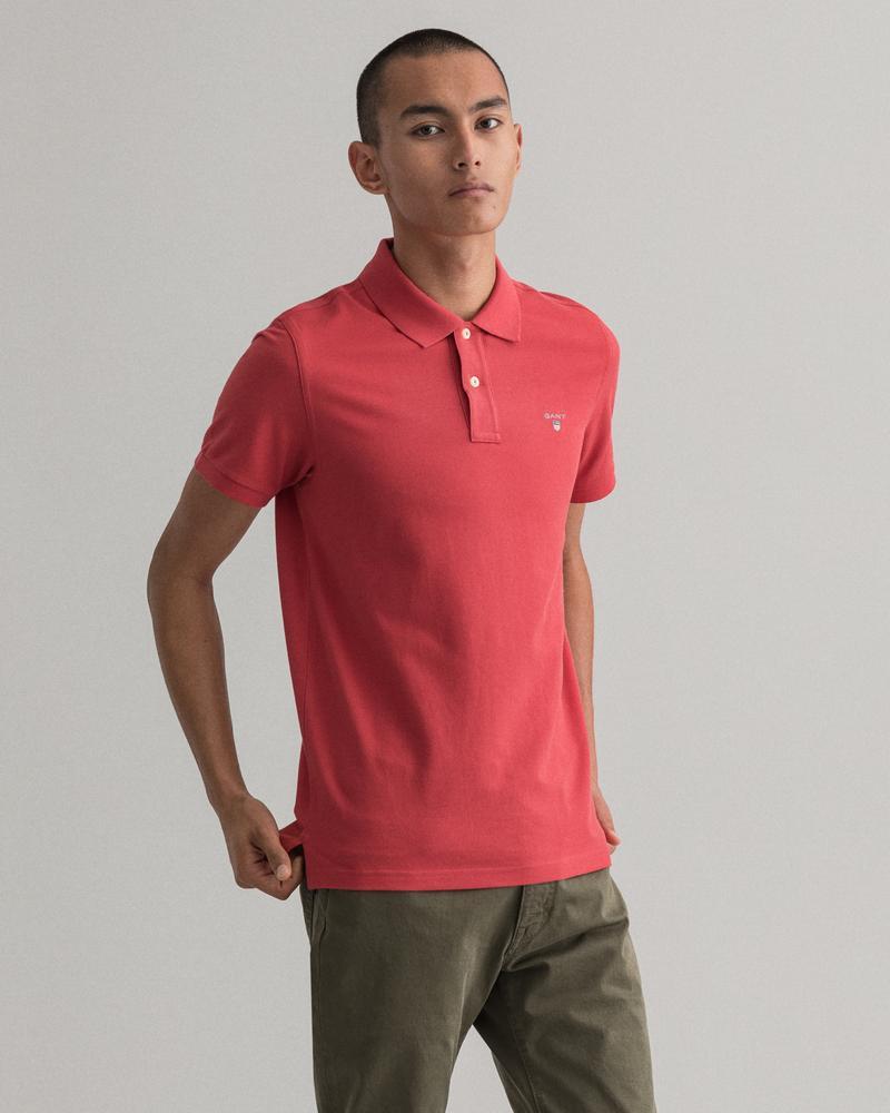 Gant Erkek Kırmızı Kısa Kollu Regular Fit Polo