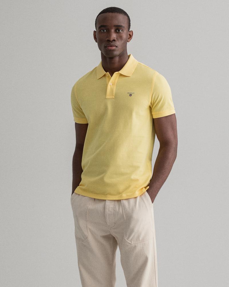 GANT Erkek Sarı Kısa Kollu Regular Fit Polo