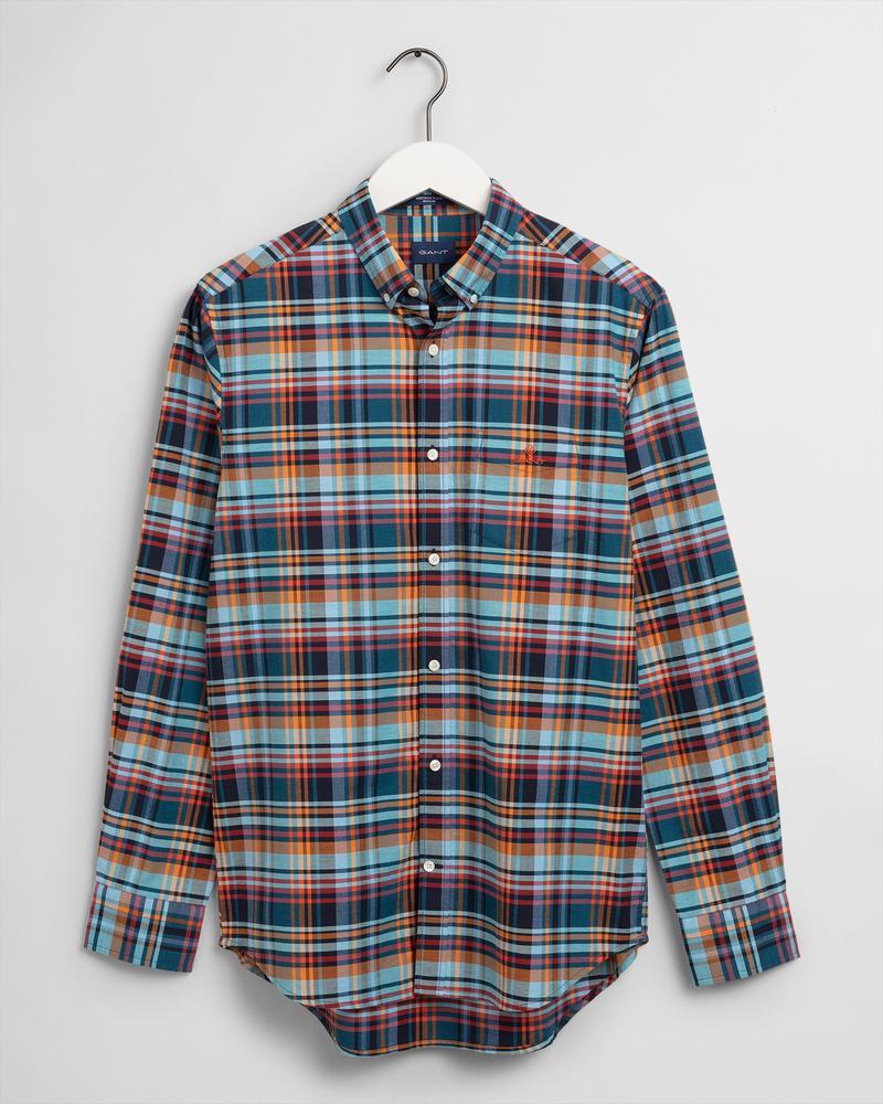 Gant Erkek Renkli Kareli Regular Fit Oxford Gömlek