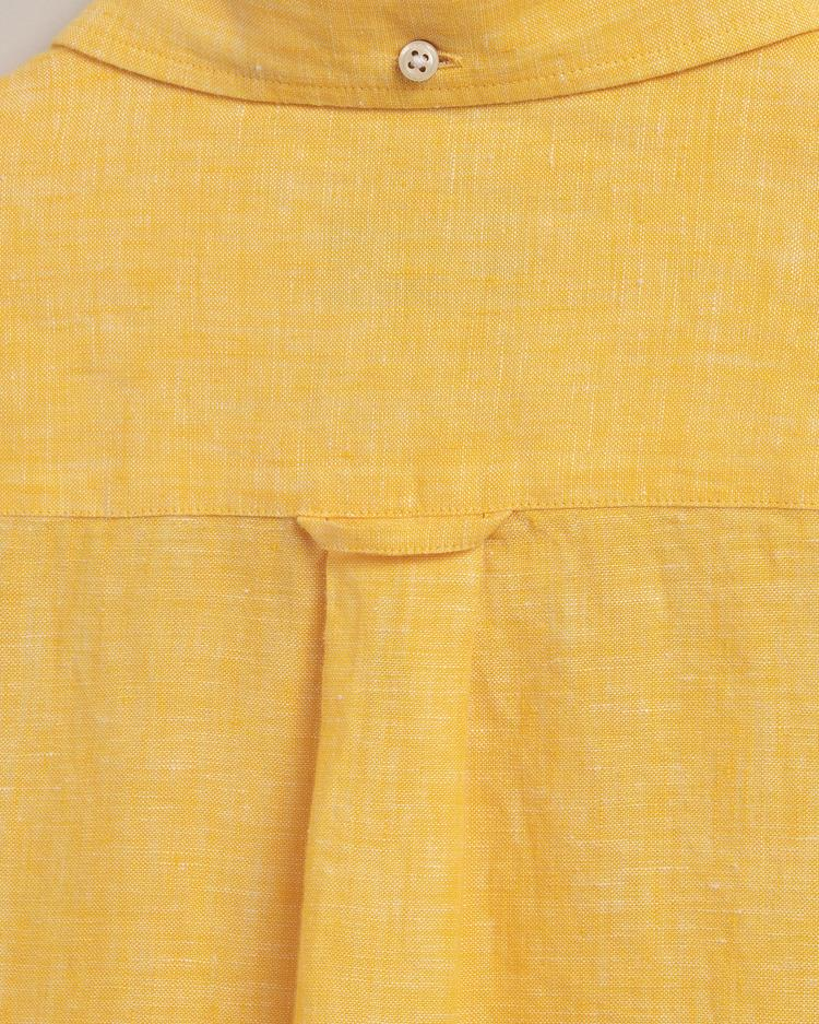 GANT Erkek Sarı Regular Fit Keten Gömlek