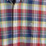 Gant Erkek Kırmızı Kareli Regular Fit Gömlek