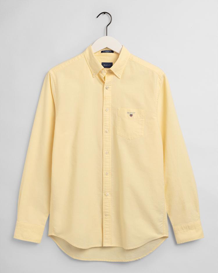 Gant Erkek Sarı Regular Fit Oxford Gömlek