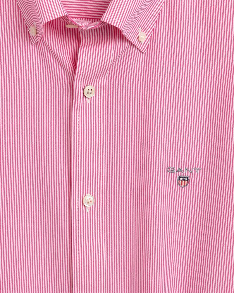 Gant Erkek Pembe Çizgili Slim Fit Gömlek