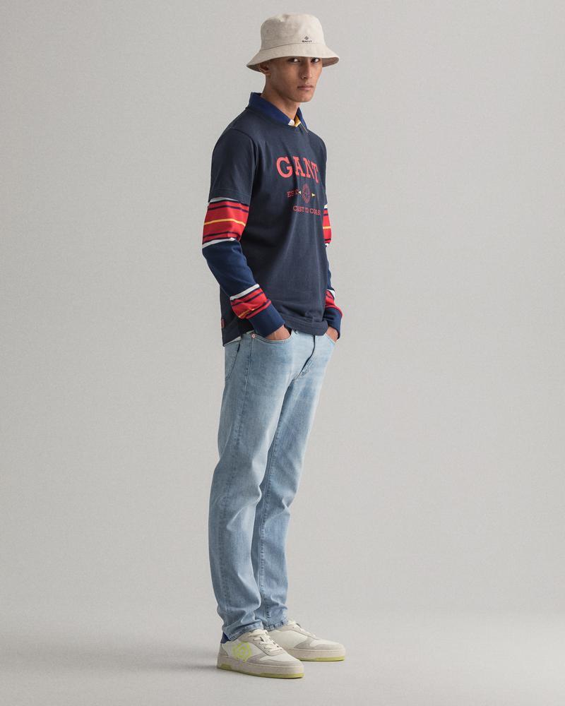 GANT Erkek Mavi Extra Slim Fit Jean Pantolon