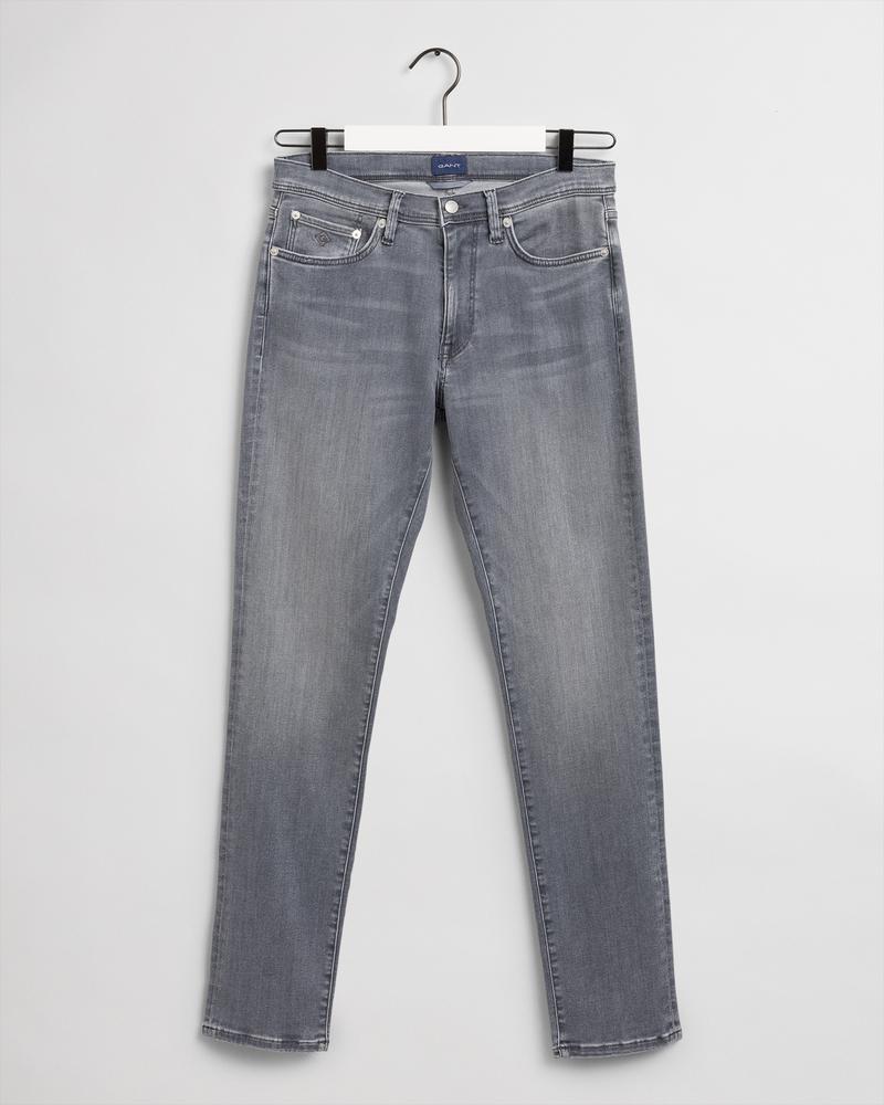 Gant Erkek Gri Extra Slim Fit Jean Pantolon