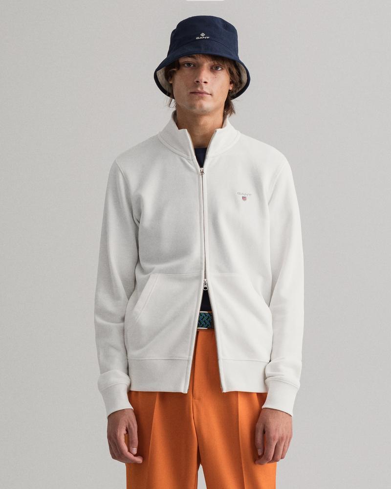 Gant Erkek Beyaz Fermuarlı Sweatshirt