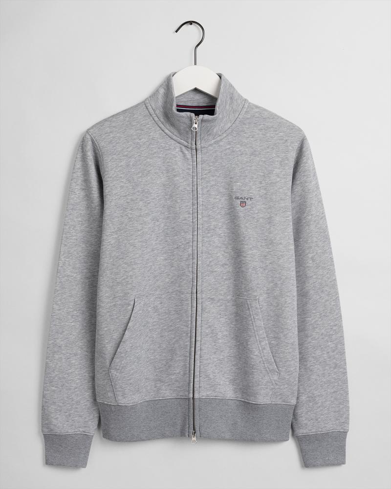 Gant Erkek Gri Fermuarlı Sweatshirt