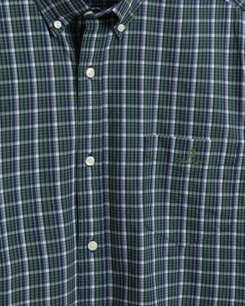 Gant Erkek Yeşil Kareli Regular Fit Tech Prep Gömlek