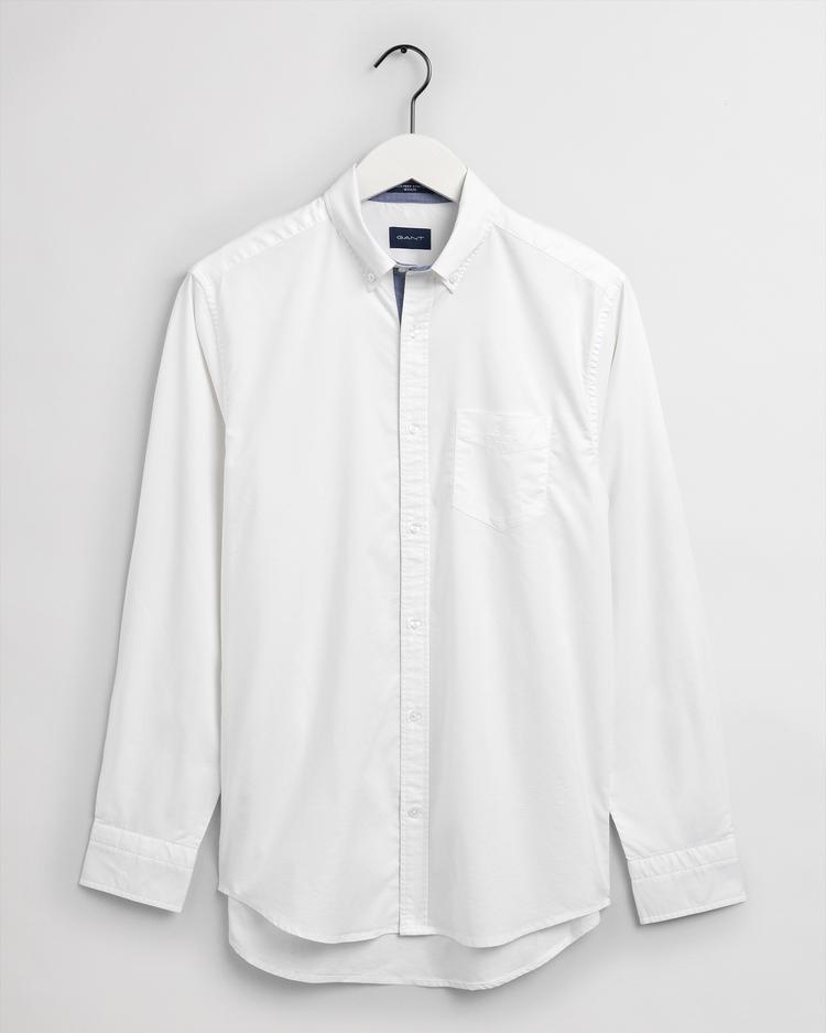Gant Erkek Beyaz Regular Fit Tech Prep Gömlek