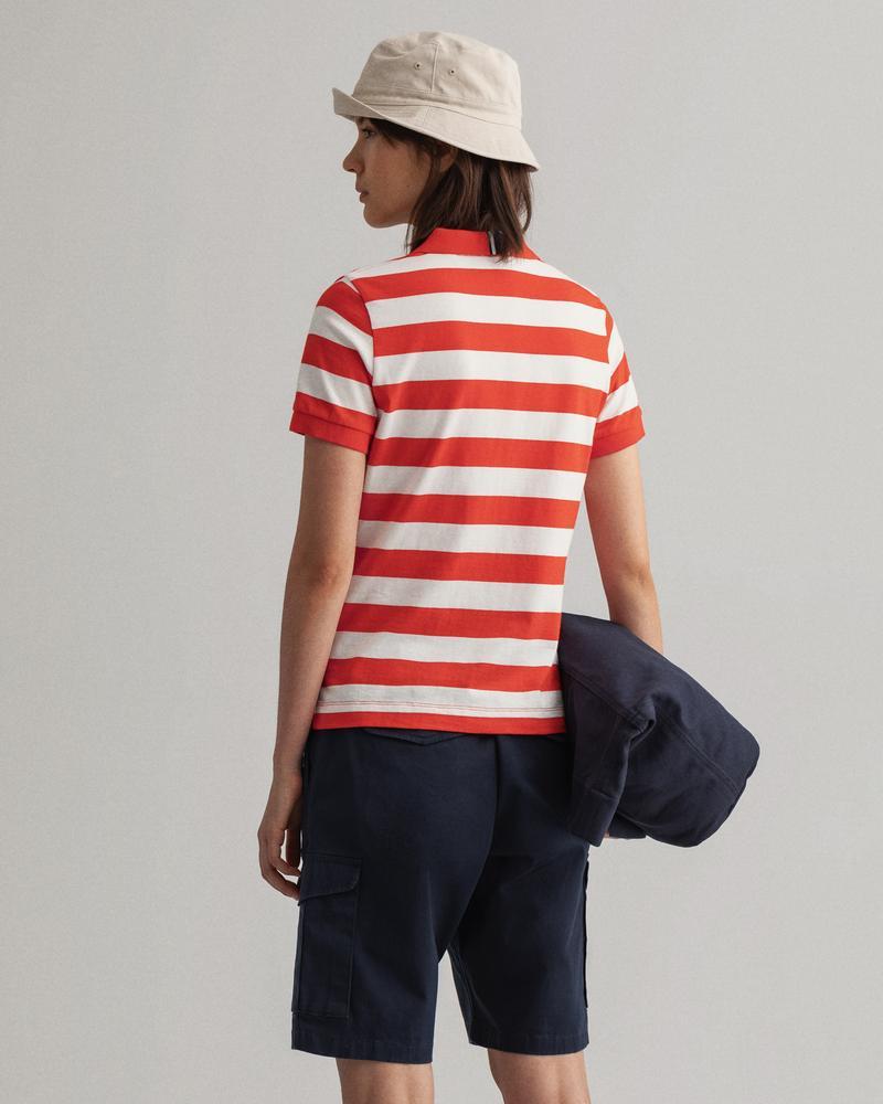 Gant Kadın Kırmızı Çizgili Polo
