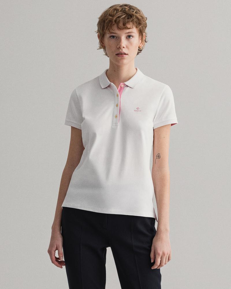Gant Kadın Beyaz Regular Fit Polo