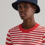 Gant Kadın Kırmızı Çizgili T-Shirt