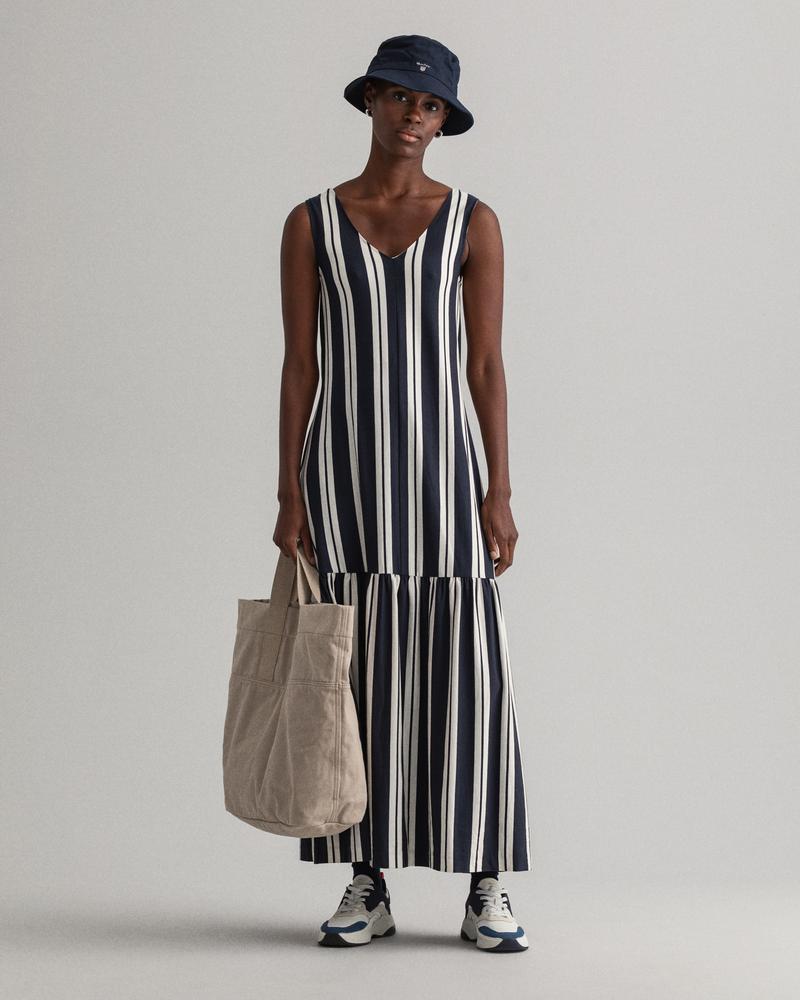 Gant Kadın Lacivert Çizgili Elbise