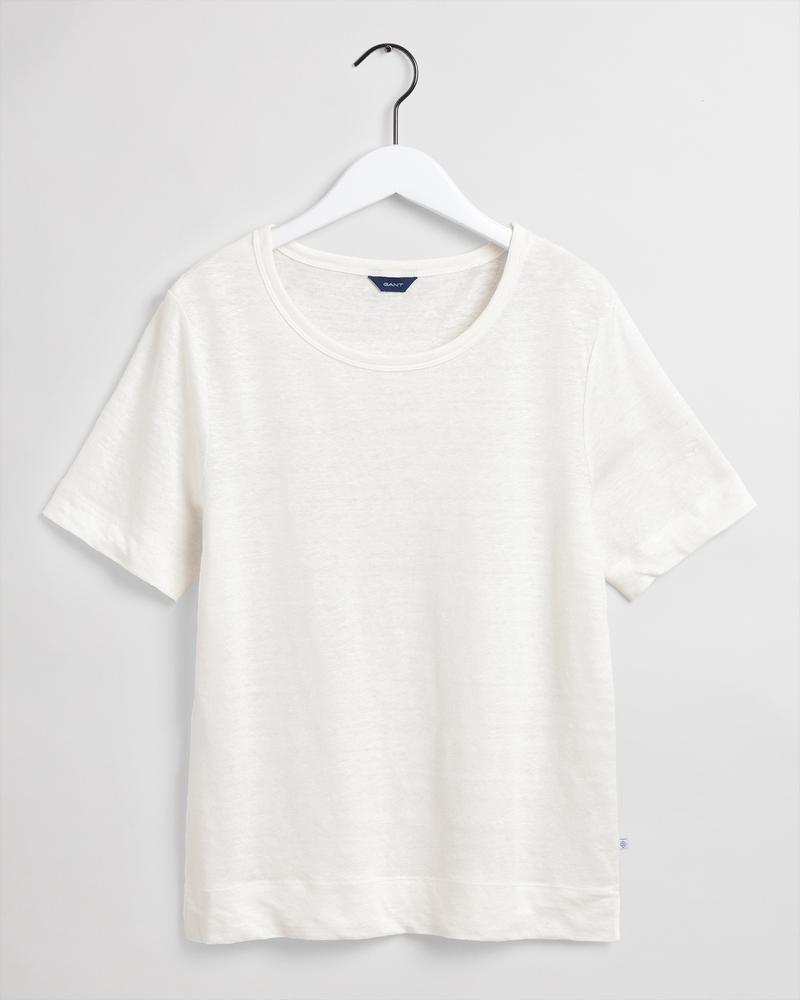 Gant Kadın Krem Keten T-Shirt