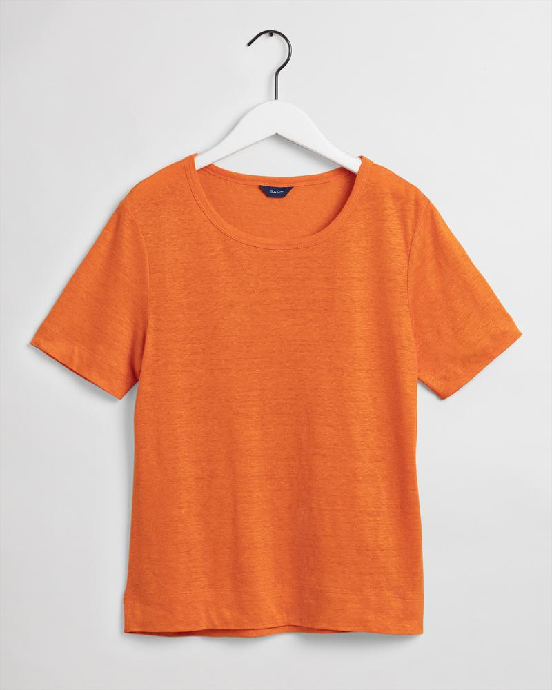 Gant Kadın Turuncu Keten T-Shirt