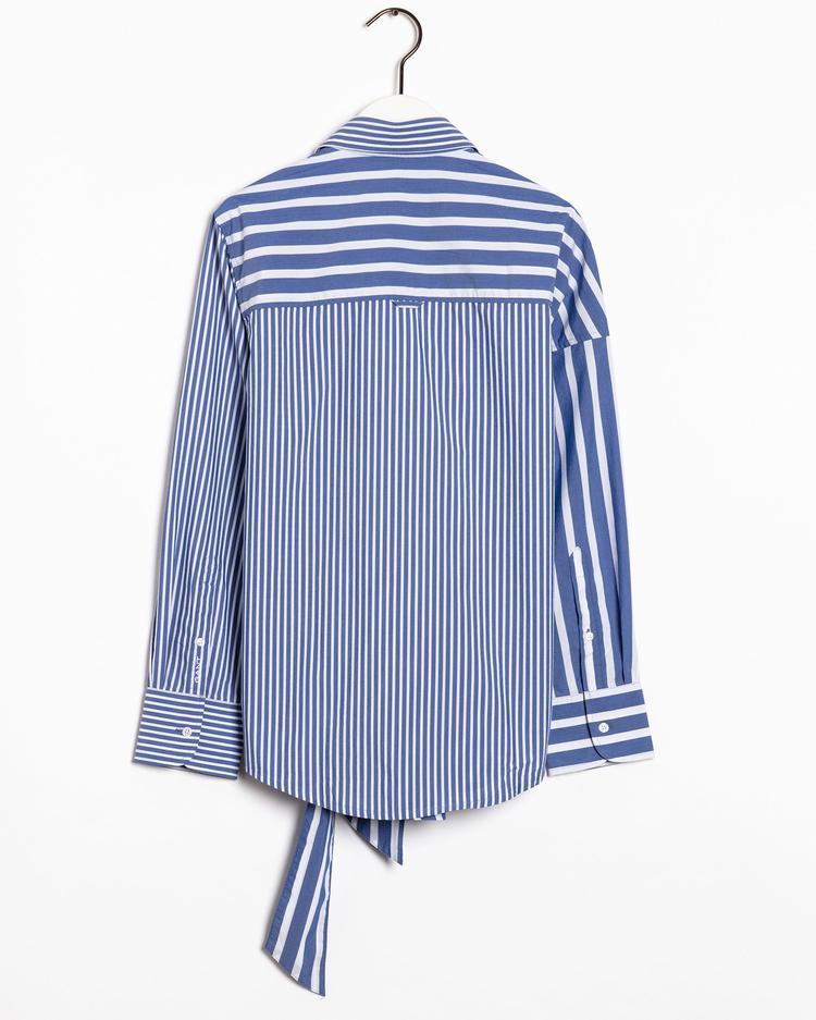 Gant Kadın Mavi Çizgili Tech Prep Gömlek