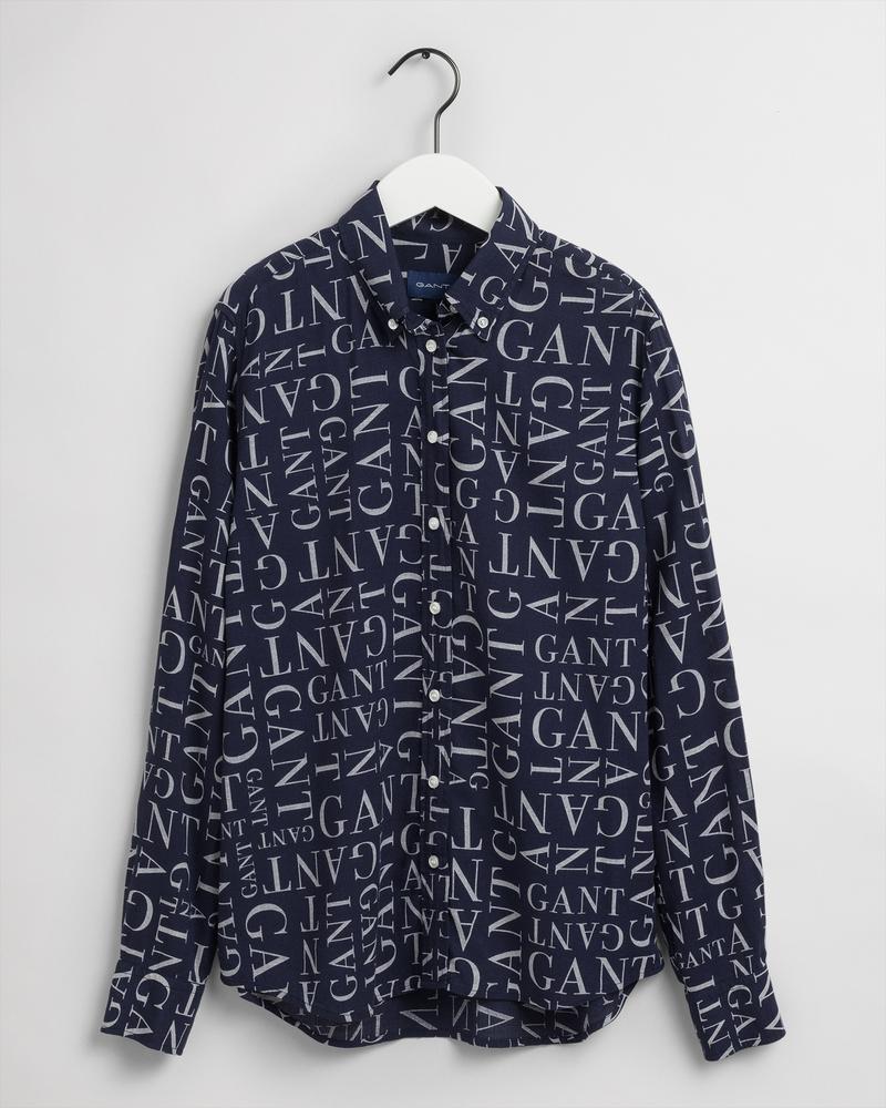 Gant Kadın Lacivert Keten Regular Fit Gömlek